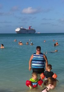 Wife and great nephews at Princess Cays
